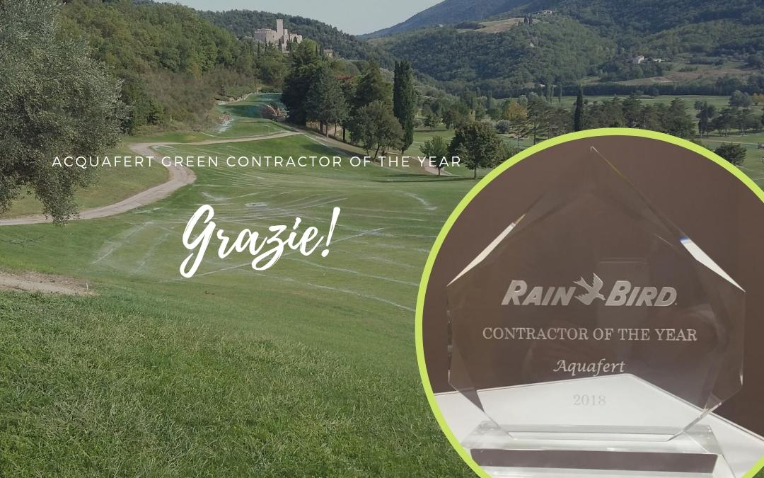 Grazie a Rain Bird per il premio Contract of the Year